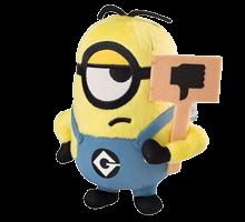 Minions Plüschfigur mit Schild
